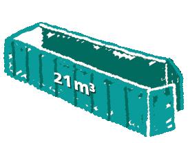 Rollcontainer mit Flügeltüren 21m3